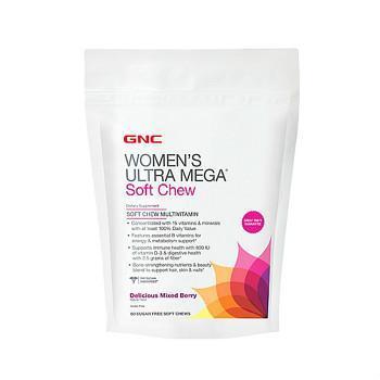 GNC Women's Ultra Mega® Soft Chew Multivitamin- Mixed Berry