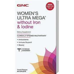 GNC Women's Ultra Mega®去碘和铁版本